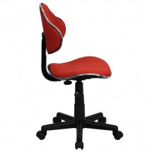 Flash Furniture BT-699-RED-GG Red Fabric Ergonomic Task Chair addl-1