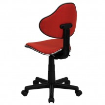 Flash Furniture BT-699-RED-GG Red Fabric Ergonomic Task Chair addl-2