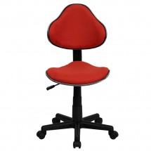 Flash Furniture BT-699-RED-GG Red Fabric Ergonomic Task Chair addl-3