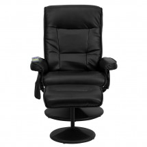 Flash Furniture BT-7320-MASS-BK-GG Massaging Black Leather Recliner and Ottoman with Leather Wrapped Base addl-3