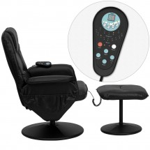 Flash Furniture BT-753P-MASSAGE-BK-GG Massaging Black Leather Recliner and Ottoman with Leather Wrapped Base addl-1