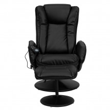 Flash Furniture BT-7672-MASSAGE-BK-GG Massaging Black Leather Recliner and Ottoman with Leather Wrapped Base addl-3