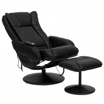 Flash Furniture BT-7672-MASSAGE-BK-GG Massaging Black Leather Recliner and Ottoman with Leather Wrapped Base addl-4