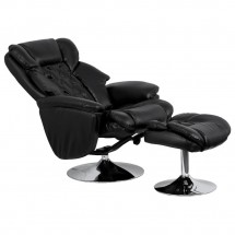 Flash Furniture BT-7807-TRAD-GG Transitional Black Leather Recliner and Ottoman with Chrome Base addl-4
