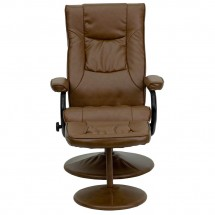 Flash Furniture BT-7862-PALIMINO-GG Contemporary Palimino Leather Recliner and Ottoman with Leather Wrapped Base addl-3