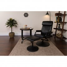 Flash Furniture BT-7863-BK-GG Contemporary Black Leather Recliner and Ottoman with Leather Wrapped Base addl-4