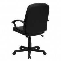 Flash Furniture BT-8075-BK-GG Mid-Back Black Leather Executive Swivel Office Chair addl-2