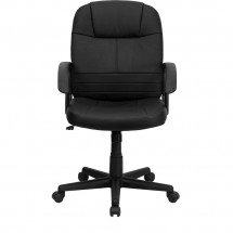 Flash Furniture BT-8075-BK-GG Mid-Back Black Leather Executive Swivel Office Chair addl-3