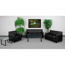 Flash Furniture BT-827-SET-BK-GG HERCULES Diplomat Series Reception Set in Black addl-1