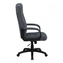 Flash Furniture BT-9022-BK-GG High Back Gray Fabric Executive Office Chair addl-1
