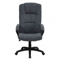 Flash Furniture BT-9022-BK-GG High Back Gray Fabric Executive Office Chair addl-3