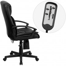 Flash Furniture BT-9578P-GG High Back Massaging Black Leather Executive Office Chair addl-1
