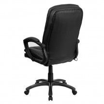 Flash Furniture BT-9585P-GG High Back Massaging Black Leather Executive Swivel Chair with Arms addl-2