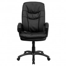 Flash Furniture BT-9585P-GG High Back Massaging Black Leather Executive Swivel Chair with Arms addl-3