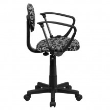 Flash Furniture BT-PEACE-A-GG Peace Sign Printed Computer Chair with Arms addl-1