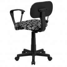 Flash Furniture BT-PEACE-A-GG Peace Sign Printed Computer Chair with Arms addl-2