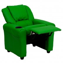 Flash Furniture DG-ULT-KID-GRN-GG Contemporary Green Vinyl Kids Recliner with Cup Holder and Headrest addl-4