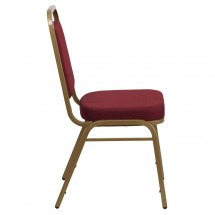 Flash Furniture FD-BHF-1-ALLGOLD-0847-BY-GG HERCULES Series Trapezoidal Back Stacking Burgundy Banquet Chair - Gold Frame addl-1