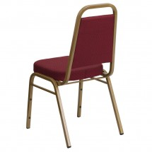Flash Furniture FD-BHF-1-ALLGOLD-0847-BY-GG HERCULES Series Trapezoidal Back Stacking Burgundy Banquet Chair - Gold Frame addl-2