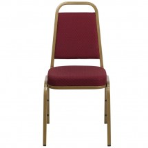 Flash Furniture FD-BHF-1-ALLGOLD-0847-BY-GG HERCULES Series Trapezoidal Back Stacking Burgundy Banquet Chair - Gold Frame addl-3