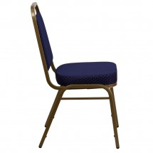 Flash Furniture FD-BHF-1-ALLGOLD-0849-NVY-GG HERCULES Series Trapezoidal Back Stacking Navy Banquet Chair - Gold Frame addl-1