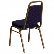 Flash Furniture FD-BHF-1-ALLGOLD-0849-NVY-GG HERCULES Series Trapezoidal Back Stacking Navy Banquet Chair - Gold Frame addl-2