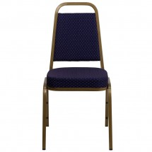 Flash Furniture FD-BHF-1-ALLGOLD-0849-NVY-GG HERCULES Series Trapezoidal Back Stacking Navy Banquet Chair - Gold Frame addl-3