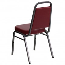 Flash Furniture FD-BHF-1-SILVERVEIN-BY-GG HERCULES Series Trapezoidal Back Stacking Burgundy Vinyl Banquet Chair - Silver Vein Frame addl-2