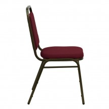 Flash Furniture FD-BHF-2-BY-GG HERCULES Series Trapezoidal Back Stacking Burgundy Banquet Chair - Gold Vein Frame addl-1
