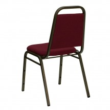 Flash Furniture FD-BHF-2-BY-GG HERCULES Series Trapezoidal Back Stacking Burgundy Banquet Chair - Gold Vein Frame addl-2