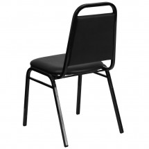 Flash Furniture FD-BHF-2-GG HERCULES Series Upholstered Stack Chair with Trapezoidal Back Black Frame and Black Seat addl-2