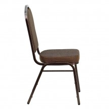Flash Furniture FD-C01-COPPER-008-T-02-GG HERCULES Series Crown Back Stacking Brown Banquet Chair - Copper Vein Frame addl-1