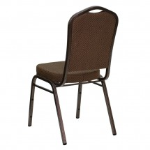 Flash Furniture FD-C01-COPPER-008-T-02-GG HERCULES Series Crown Back Stacking Brown Banquet Chair - Copper Vein Frame addl-2