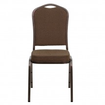 Flash Furniture FD-C01-COPPER-008-T-02-GG HERCULES Series Crown Back Stacking Brown Banquet Chair - Copper Vein Frame addl-3