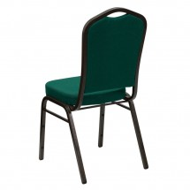 Flash Furniture FD-C01-GOLDVEIN-GN-GG HERCULES Series Crown Back Green Stacking Banquet Chair - Gold Vein Frame addl-2