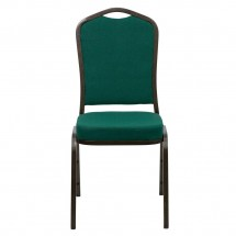 Flash Furniture FD-C01-GOLDVEIN-GN-GG HERCULES Series Crown Back Green Stacking Banquet Chair - Gold Vein Frame addl-3