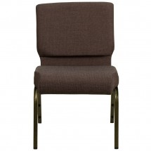 """Flash Furniture FD-CH0221-4-GV-S0819-GG HERCULES Series 21"""" Extra Wide Brown Stacking Church Chair - Gold Vein Frame addl-2"""