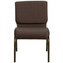 """Flash Furniture FD-CH0221-4-GV-S0819-GG HERCULES Series 21"""" Extra Wide Brown Stacking Church Chair - Gold Vein Frame addl-3"""