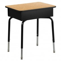 Flash Furniture FD-DESK-GG Student Desk with Open Front Metal Book Box addl-1