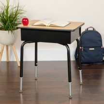 Flash Furniture FD-DESK-GG Student Desk with Open Front Metal Book Box addl-3