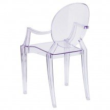 Flash Furniture FH-124-APC-CLR-GG Ghost Chair with Arms in Transparent Crystal addl-2