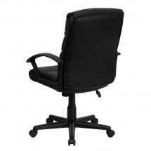 Flash Furniture GO-1004-BK-LEA-GG Mid-Back Black Leather Task Chair addl-2