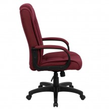 Flash Furniture GO-5301B-BY-GG High Back Burgundy Fabric Executive Office Chair addl-1