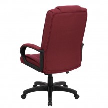 Flash Furniture GO-5301B-BY-GG High Back Burgundy Fabric Executive Office Chair addl-2