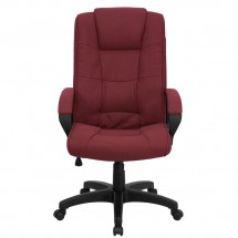 Flash Furniture GO-5301B-BY-GG High Back Burgundy Fabric Executive Office Chair addl-3