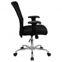 Flash Furniture GO-5307B-GG Mid-Back Black Mesh Contemporary Task Chair addl-1