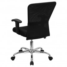 Flash Furniture GO-5307B-GG Mid-Back Black Mesh Contemporary Task Chair addl-2