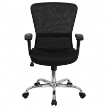 Flash Furniture GO-5307B-GG Mid-Back Black Mesh Contemporary Task Chair addl-3