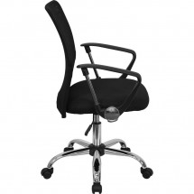 Flash Furniture GO-6057-GG Mid-Back Black Mesh Task Chair addl-1