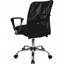 Flash Furniture GO-6057-GG Mid-Back Black Mesh Task Chair addl-2